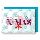Xmas Karten Mit Umschlag FZ-X-37704 |  Xmas Karten | Merry X-MAS - Holzschliffpappe A6