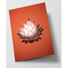 pu104 | Pure |  lotus flower - orange - folding card  C6