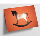 pu103 | Pure |   rocking horse - orange - folding card  C6