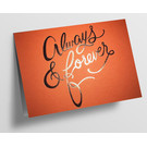 pu101| Pure |  always & forever - orange - folding card  C6
