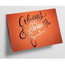 pu101| Pure | always & forever - orange - Klappkarte  C6