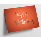 pu099| Pure |  Happy Birthday - orange - Klappkarte  C6