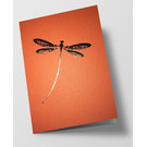 pu095 | Pure | dragon-fly - orange - folding card  C6