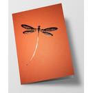 pu095| Pure |  Libelle - orange - Klappkarte  C6