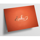 pu097 | Pure | Danke mit Herz - orange - folding card  C6