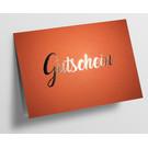 pu096 | Pure |  Gutschein - orange - Klappkarte  C6