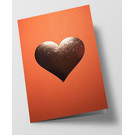 pu098 | Pure |  heart - orange - folding card  C6