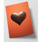 pu098 | Pure | Herz - orange - Klappkarte  C6