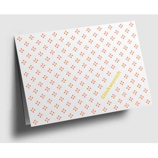 gx301   Graphixx   Raute - orange - fein - Glückwunsch - Klappkarte  C6
