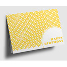 gx302 | Graphixx |  Happy Birthday - yellow - folding card  C6