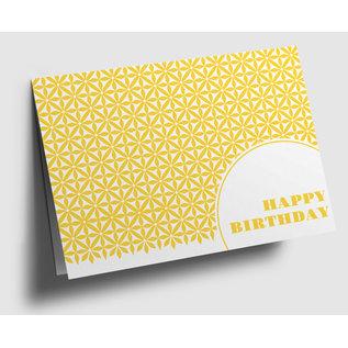 gx302 | Graphixx |  Happy Birthday - yellow - folding card  C6