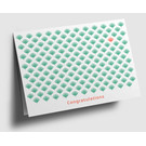 gx303 | Graphixx | leaf pattern - Congratulations - green -  folding card  C6