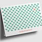 gx303 | Graphixx | Blattmuster - Congratulations -  grün - Klappkarte C6