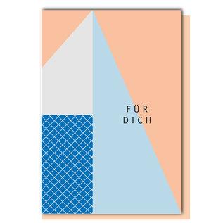 FZ-GE-009 |  Geometric | Für Dich - Klappkarte