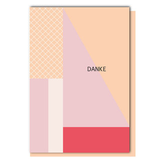 FZ-GE-007 |  Geometric | Danke - folding card