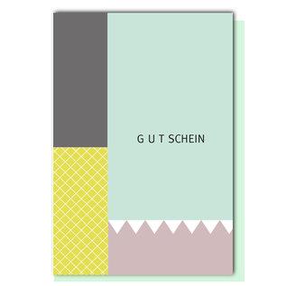 FZGE006 |  Geometric | Gutschein - Klappkarte