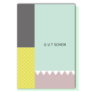 Geometric FZ-GE-006 |  Geometric | Gutschein - folding card