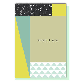 FZGE005 |  Geometric | Gratuliere - Klappkarte