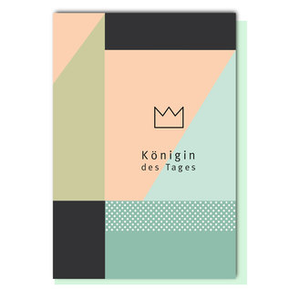 FZ-GE-004 |  Geometric | Königin des Tages - folding card