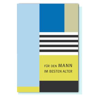 FZ-GE-003 |  Geometric | Für den Mann im besten Alter - folding card