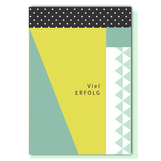 FZ-GE-002 |  Geometric | Viel Erfolg - folding card