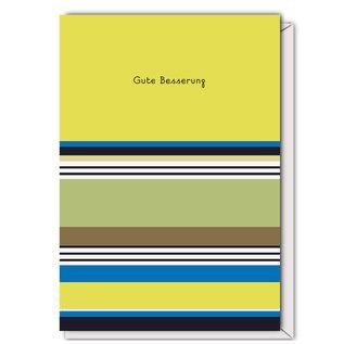 FZST005 |  Stripes |Gute Besserung - folding card