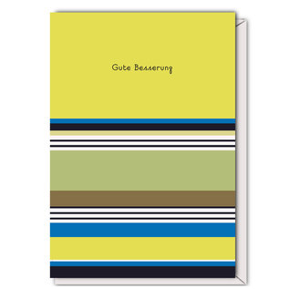 FZST005 |  Stripes |Gute Besserung - Klappkarte