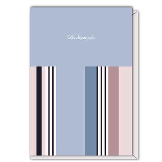FZST004 |  Stripes | Glückwunsch - folding card