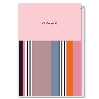FZST003 |  Stripes | Alles Gute - folding card