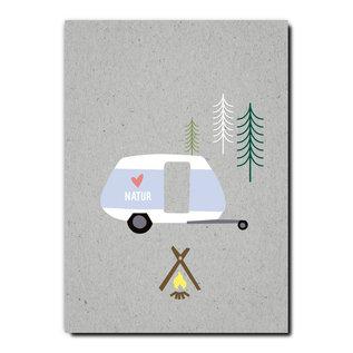 FZGC027 |  Gray-Code | Natur Camper - Holzschliffpappe A6