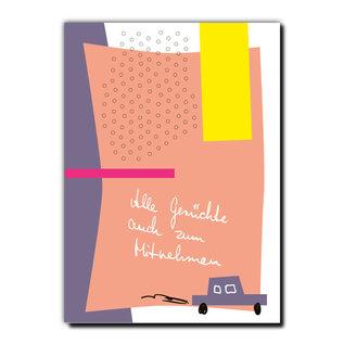 FZPA002 | Pastellica | Alle Gerüchte... - Postcard A6