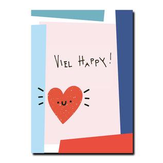 FZPA012 | Pastellica | VIEL HAPPY! - Postkarte A6