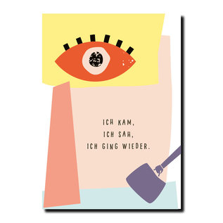 FZPA013 | Pastellica | ICH KAM, ICH SAH,... - Postkarte A6