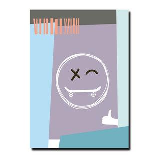 FZPA014 | Pastellica | Skate Smilie - Postkarte A6