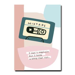 FZPA015   Pastellica   MIXTAPE - Postkarte A6