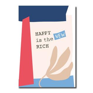 FZPA021 | Pastellica | HAPPY is the NEW RICH - Postkarte A6