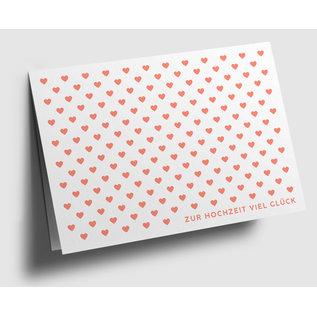 gx304 | Graphixx |  hearts - orange -  folding card  C6