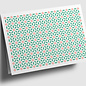gx305 | Graphixx | square - ornamet - ornage green - folding card  C6