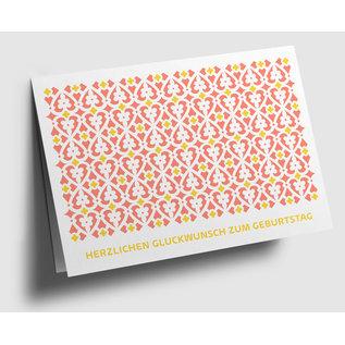 gx306 | Graphixx | floral ornament - Herzlichen Glückwunsch - folding card  C6