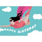 lu117| luminous |  Superwoman - Happy Birthday - Postkarte A6