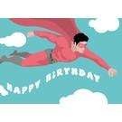 lu118 | luminous | superman -  happy birthday - postcard A6