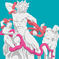 mu018 | museum art | Gods in Color | Laocoon and his Sons - Postkarte A6
