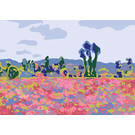 "mu014 | museum art | Monet – ""Poppy Field"" – 1885 – Postcard A6"