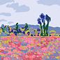 "mu014 | museum art | Monet – ""Poppy Field"" – 1885 – Postkarte A6"