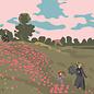 """mu009   museum art   Monet – """"Poppy Field, Argenteuil"""" – 1873 – Postcard A6"""