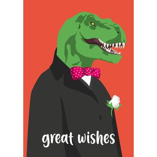 cc189 | crissXcross | Gentleman Dino - Postcard A6