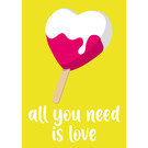 cc186 | crissXcross | Heart Lolly - Postcard A6