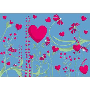 cc185 | crissXcross | Lots of Hearts - Postkarte A6