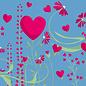 cc185 | crissXcross | Lots of Hearts - Postcard A6