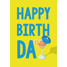 cc184 | crissXcross | Birthday Cocktail - Postcard A6